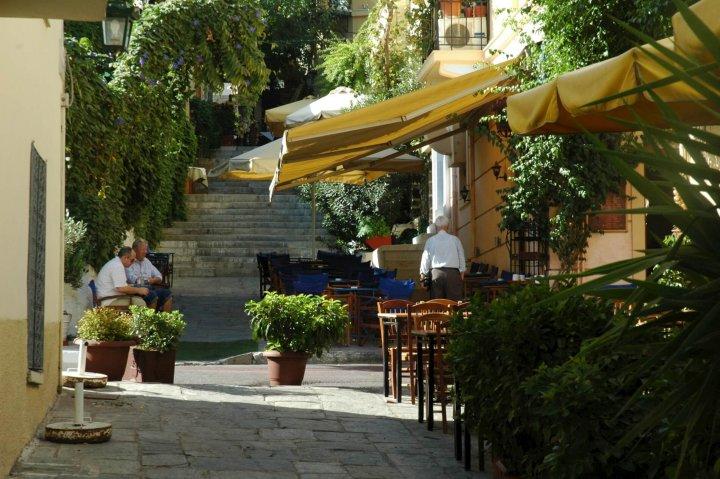 Plaka, het oudste district in Athene