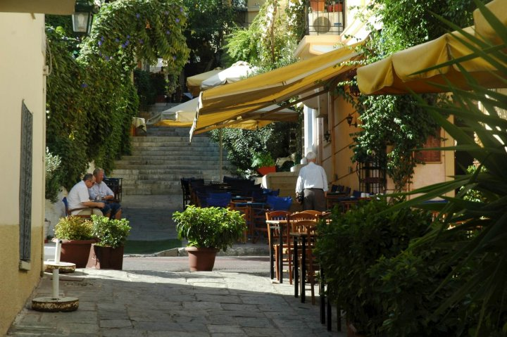 Plaka, het oudste district in Athene