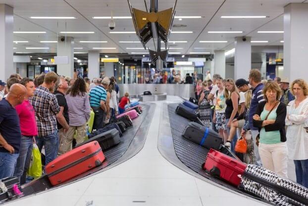 koffer bij bagageband