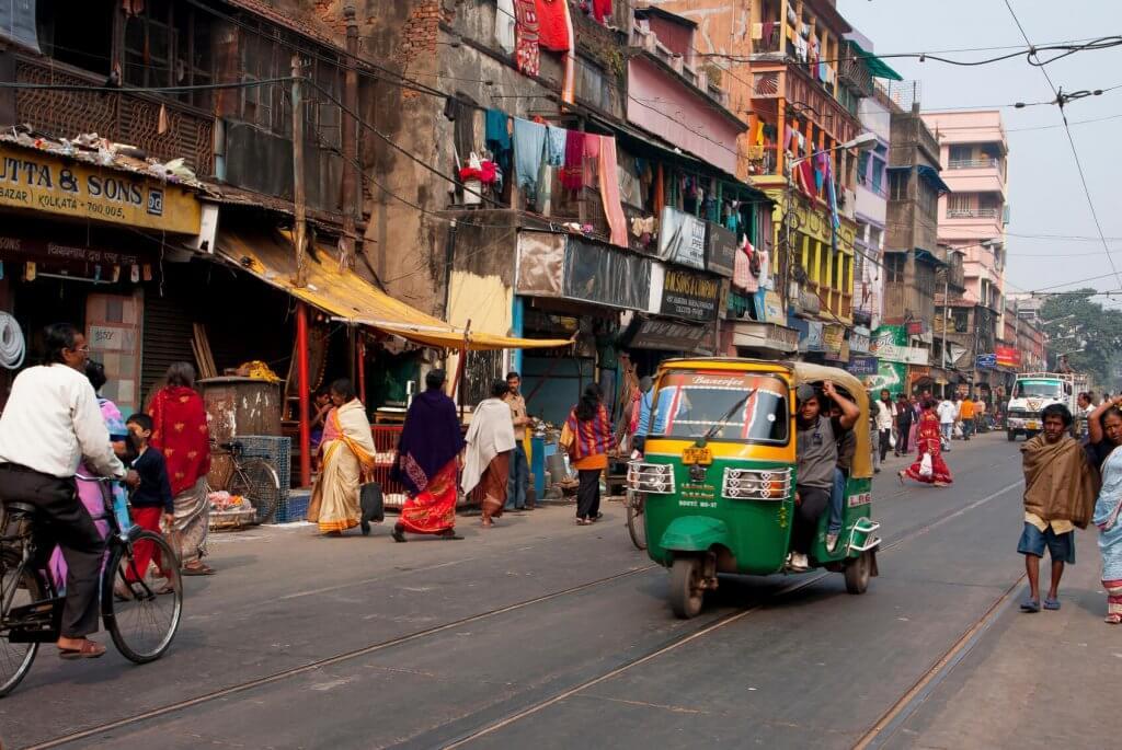 riksja rijden in dehli india