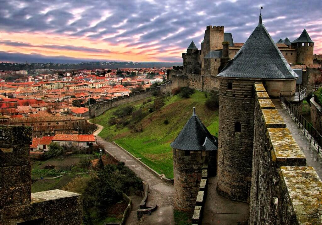 Carcassonne uitzicht van binnen