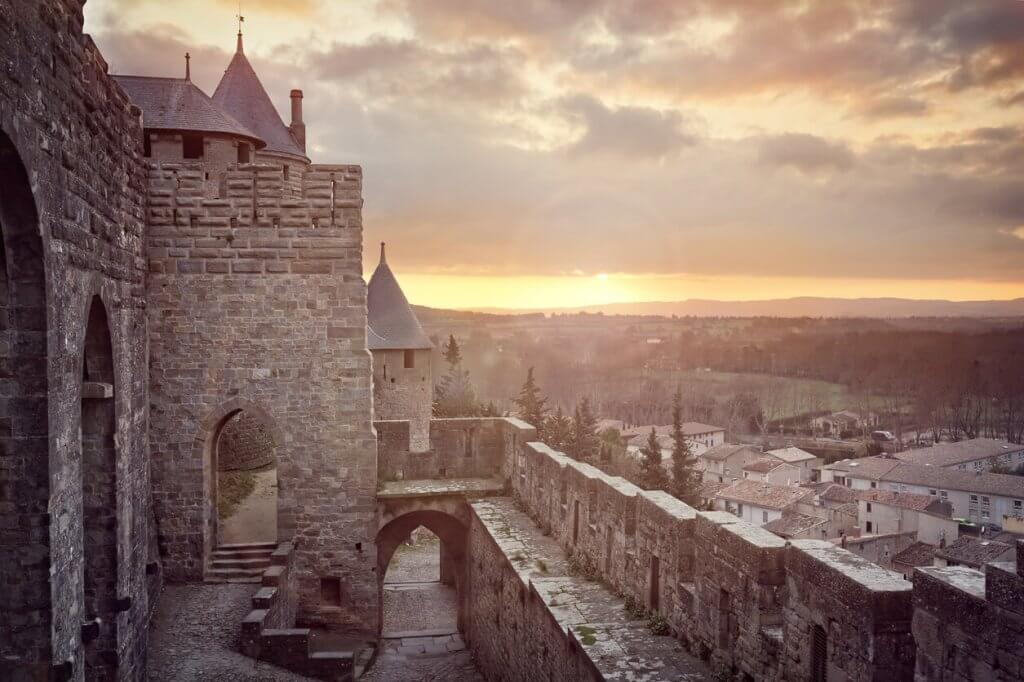 Carcassonne uitzicht van binnen2