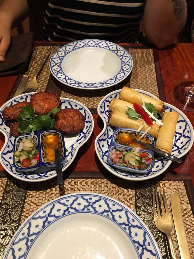 heerlijke vegetarische loempia bij de Thaise hotspot in Maastricht