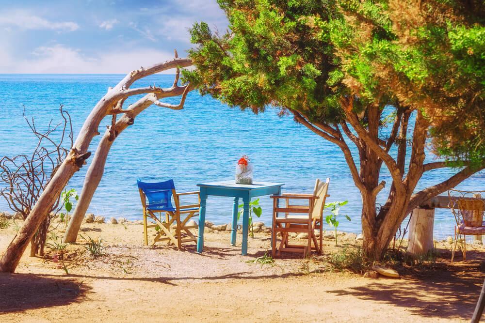 Dafni beach, Zakynthos, Griekenland