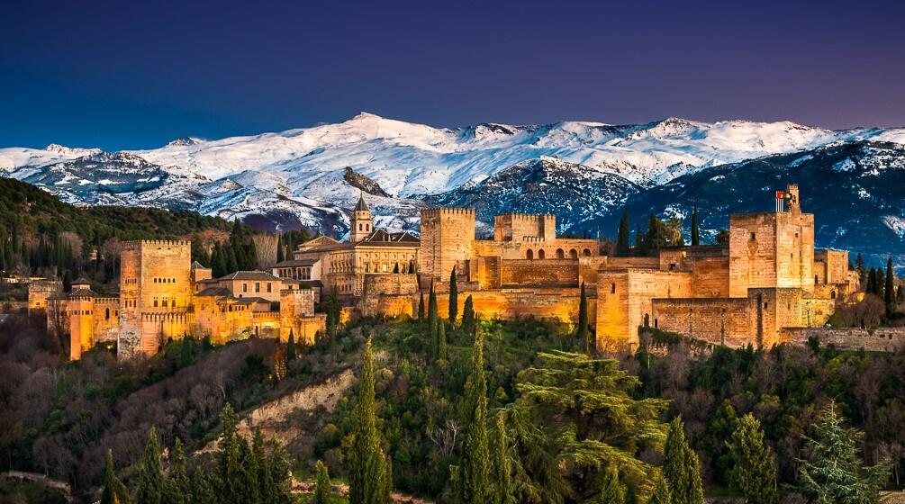Het Alhambra van Granada. Één van de mooiste paleizen van Andalusië.