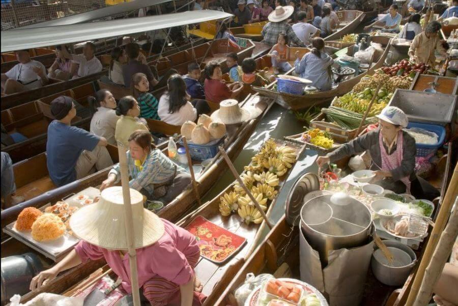 Op pad met gids Pok - Drijvende markt