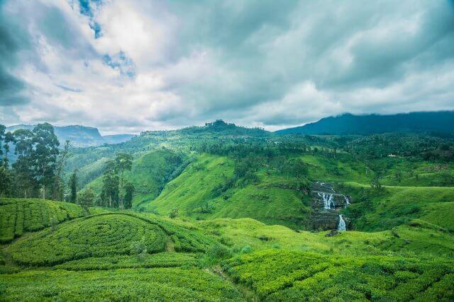 De prachtige St. Clairs waterval in Sri Lanka