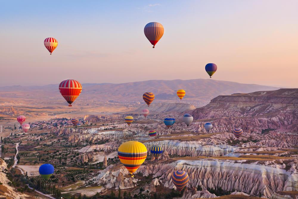 Ballonvaart over Cappadocië (Turkije)