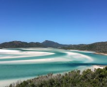 whitsunday islands national park wit strand