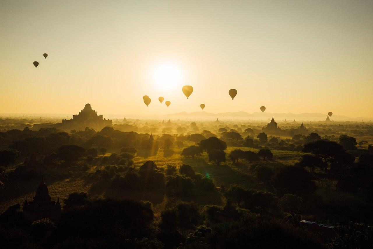 myanmar luchtballon