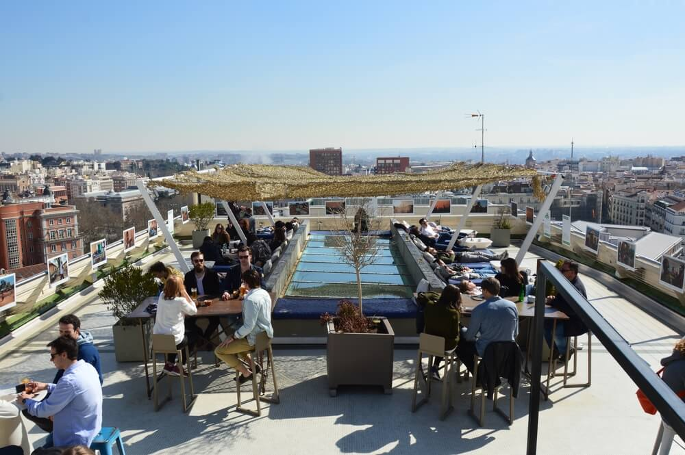 Rooftop bar Madrid