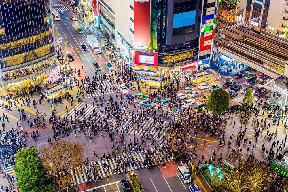 het Shibuya kruispunt in Tokyo