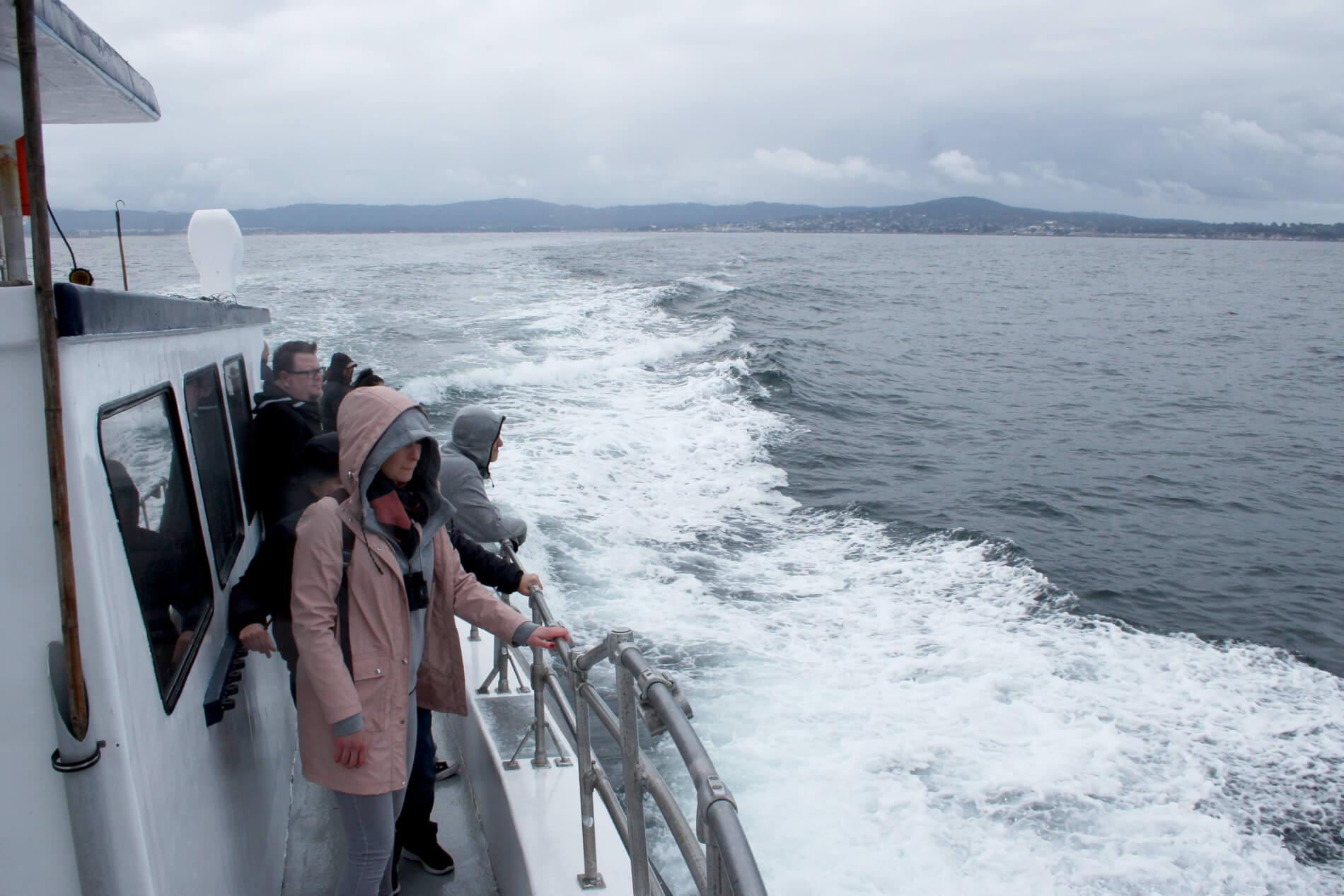 Nat en koud op zee