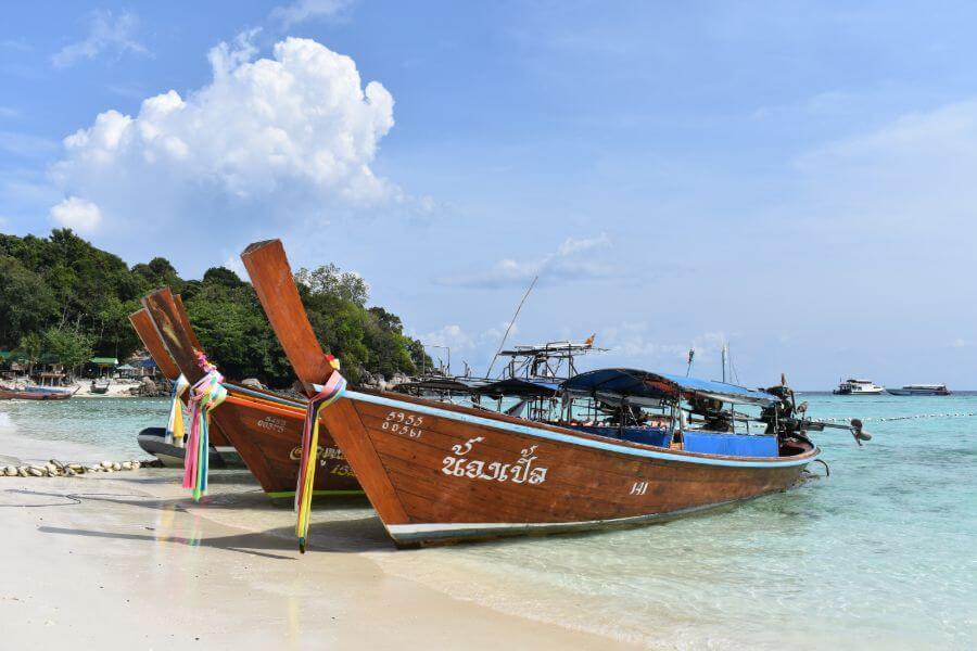 Longtailboat op Koh Lipe