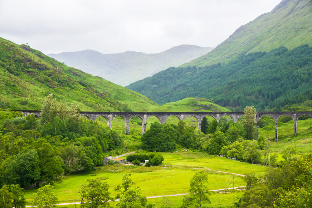 View of GlenfinnanViaduct , Glenfinnan, Scotland