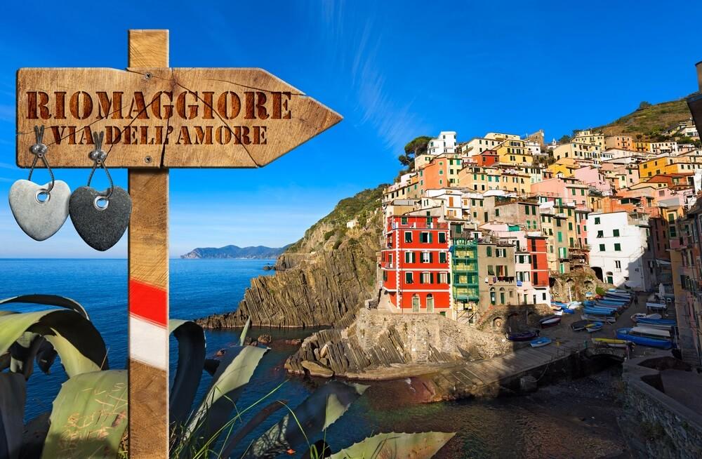 Via dell'Amore pad van de liefde manarola