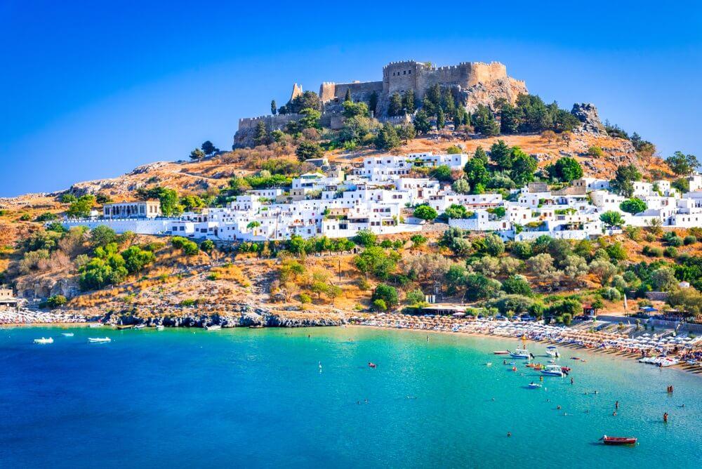 lindos rhodos griekenland