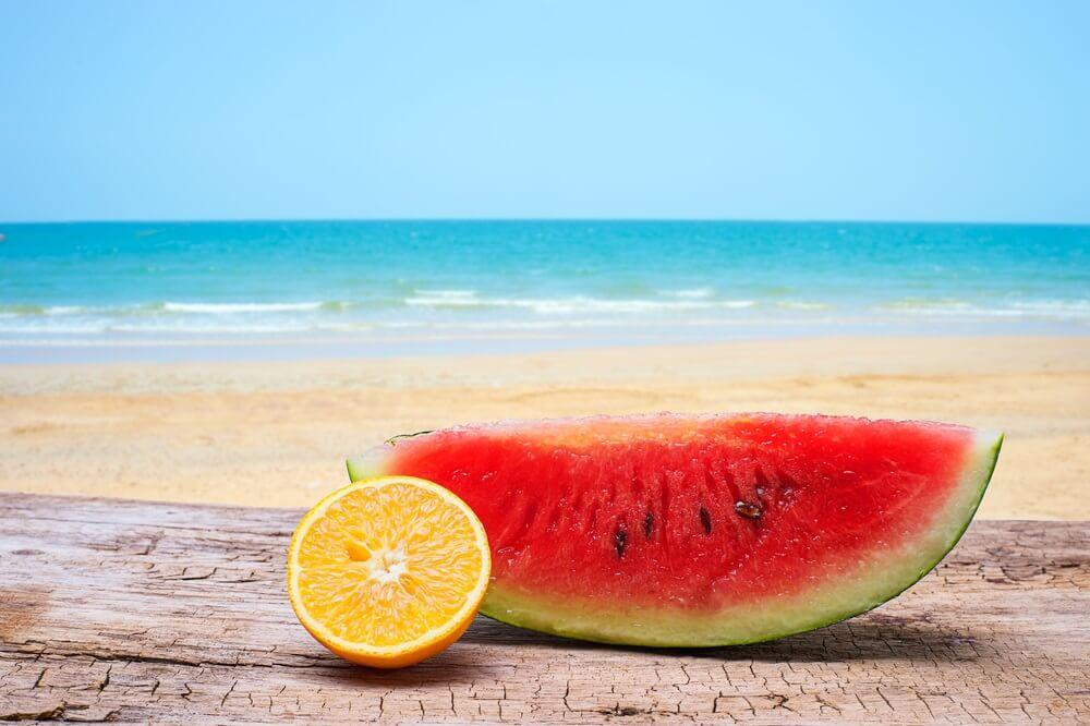 Eten en drinken op het strand