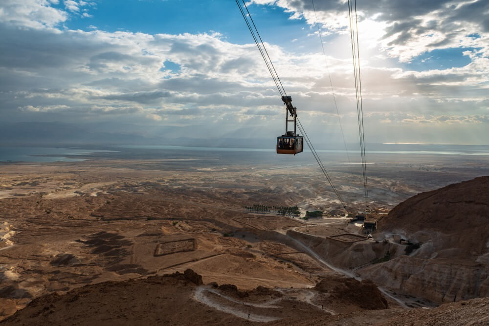 kabelbaan masada israel