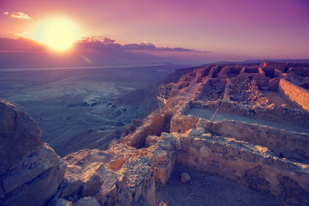 masada zonsondergang israel