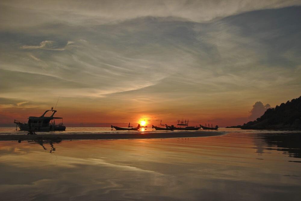 zonsondergang koh tao thailand