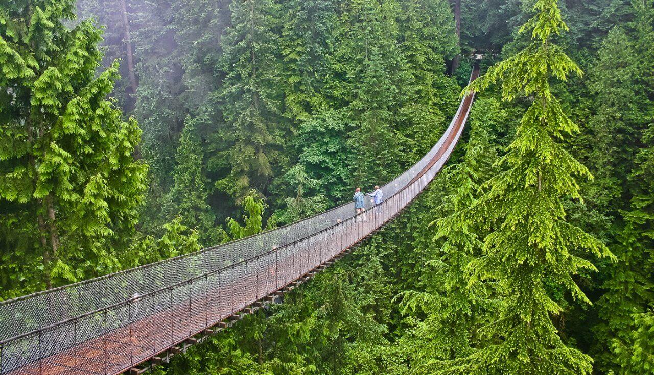 Capilano Suspension Bridge in Vancouver