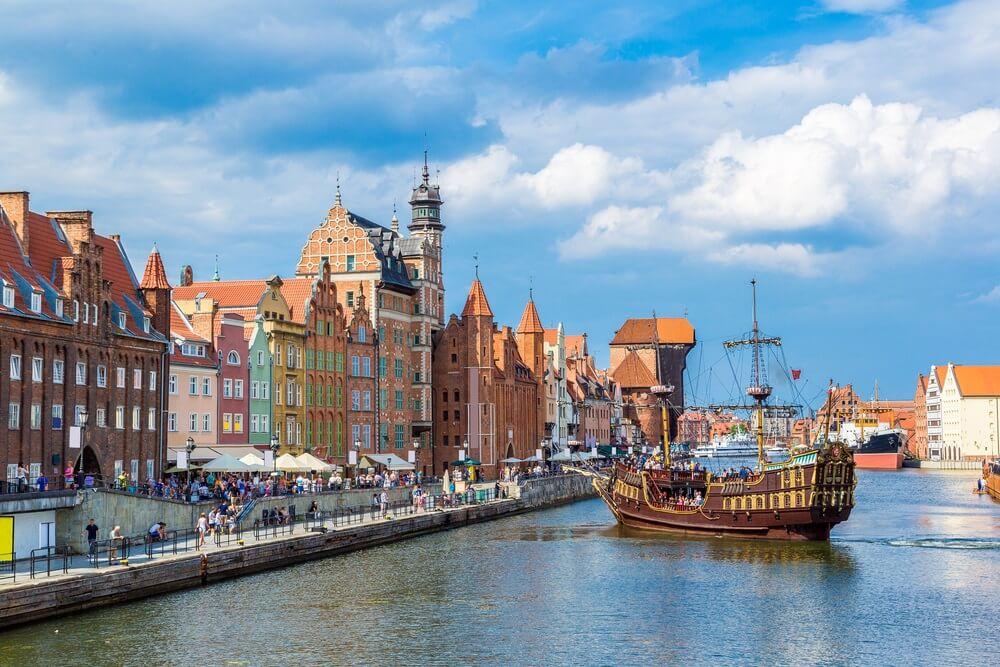Kleurrijk Gdansk Polen