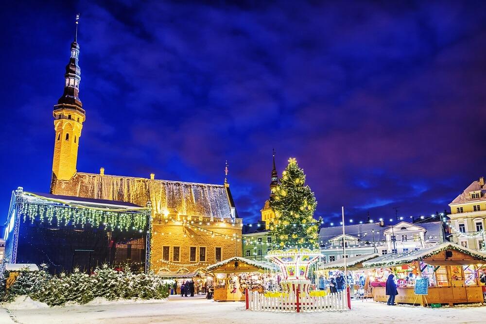 Kerstmarkt in Tallinn