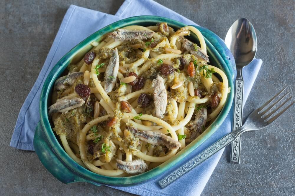 Pasta con le Sarde Siciliaanse pasta