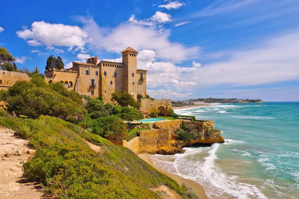Het beroemde kasteel in Tarragona Catalonië, Spanje