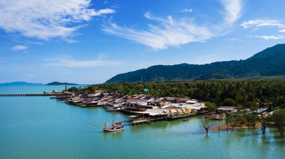 binnenstad koh lanta thailand