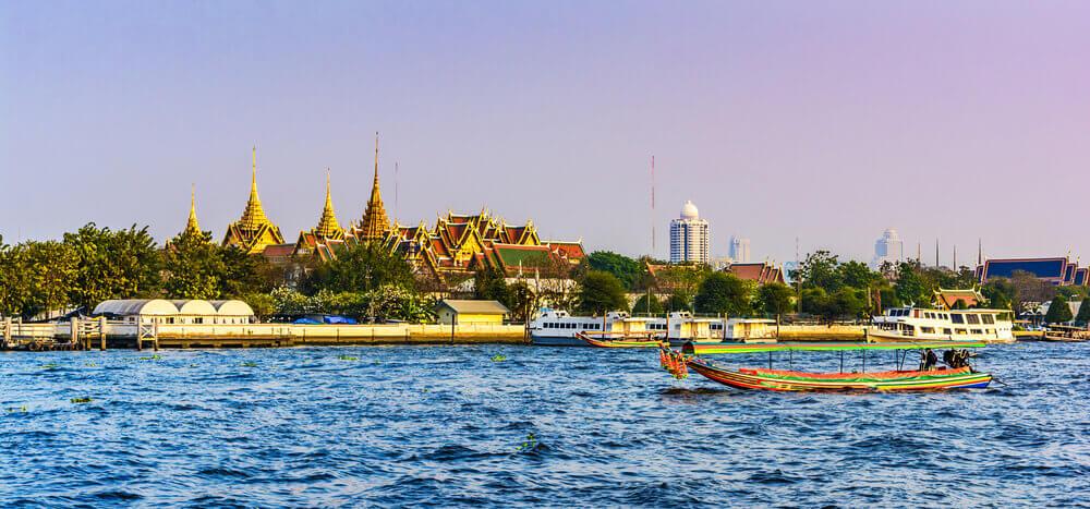chao phraya rivier bangkok thailand