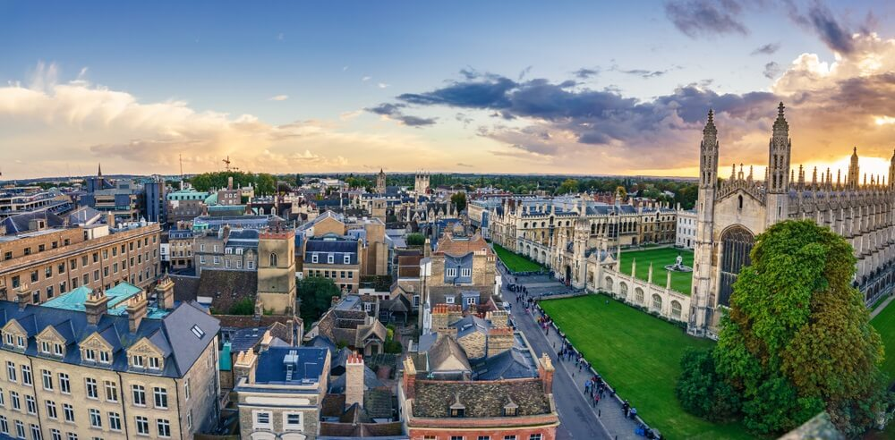 De historische studentenstad Cambridge in Engeland