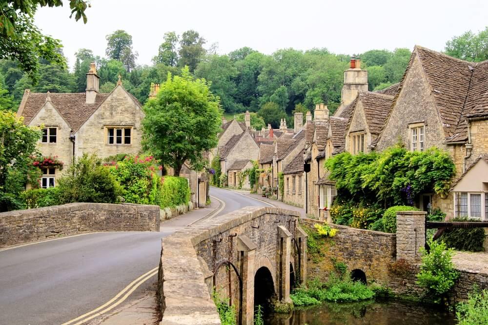 Historisch dorpje in de Cotswolds, Engeland