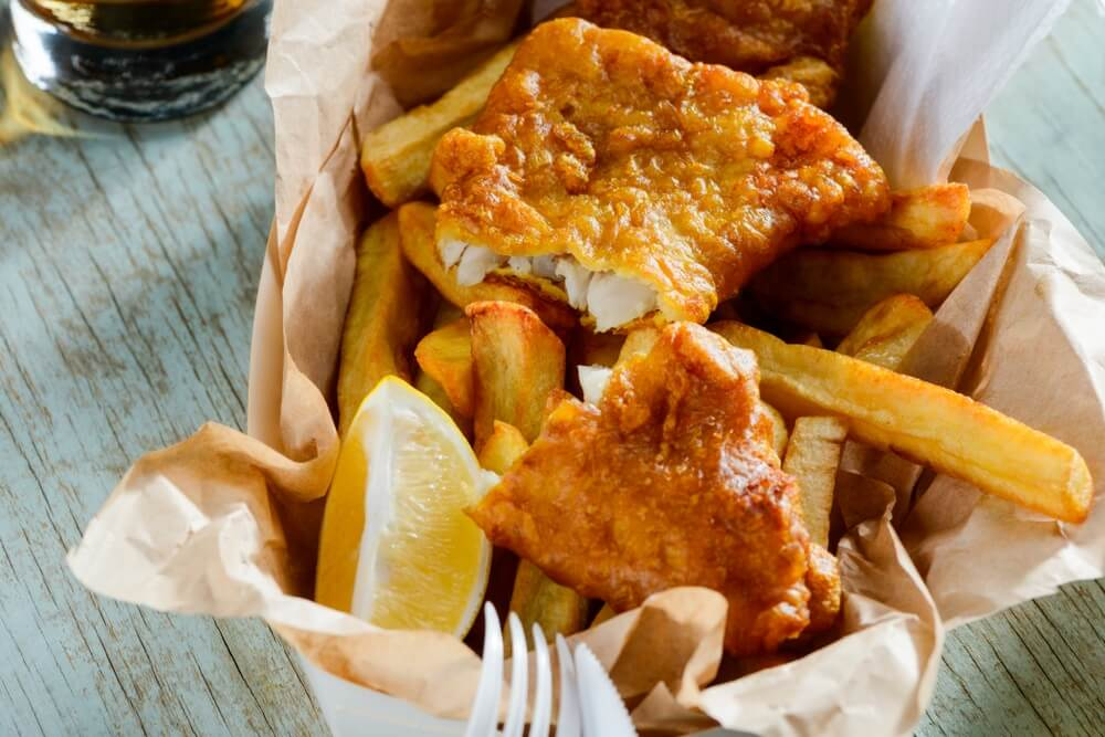 Het heerlijke Engelse gerecht Fish and Chips