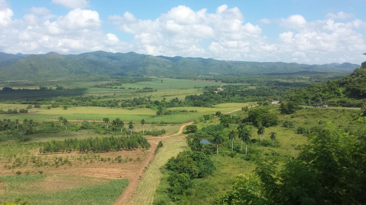 Mirador del Valle de los Ingenios, nabij Trinidad, Cuba