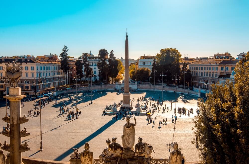 Het Piazza del Popolo, Rome
