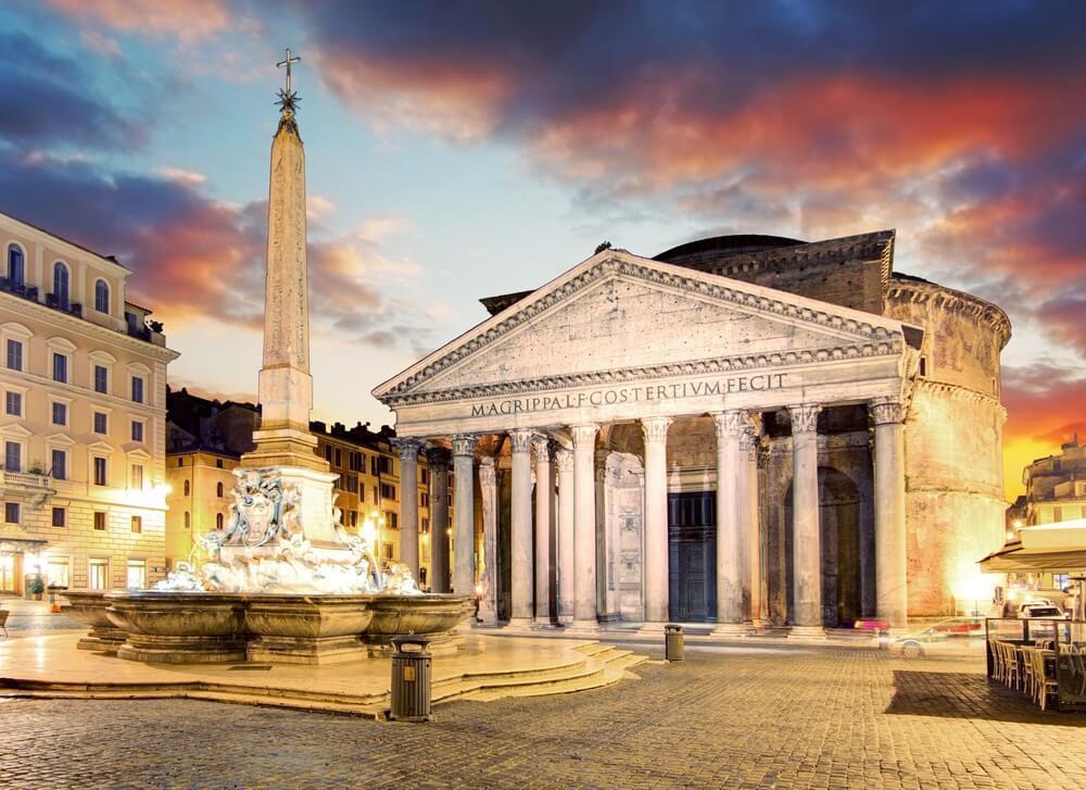 Het Piazza della Rotonda in Rome
