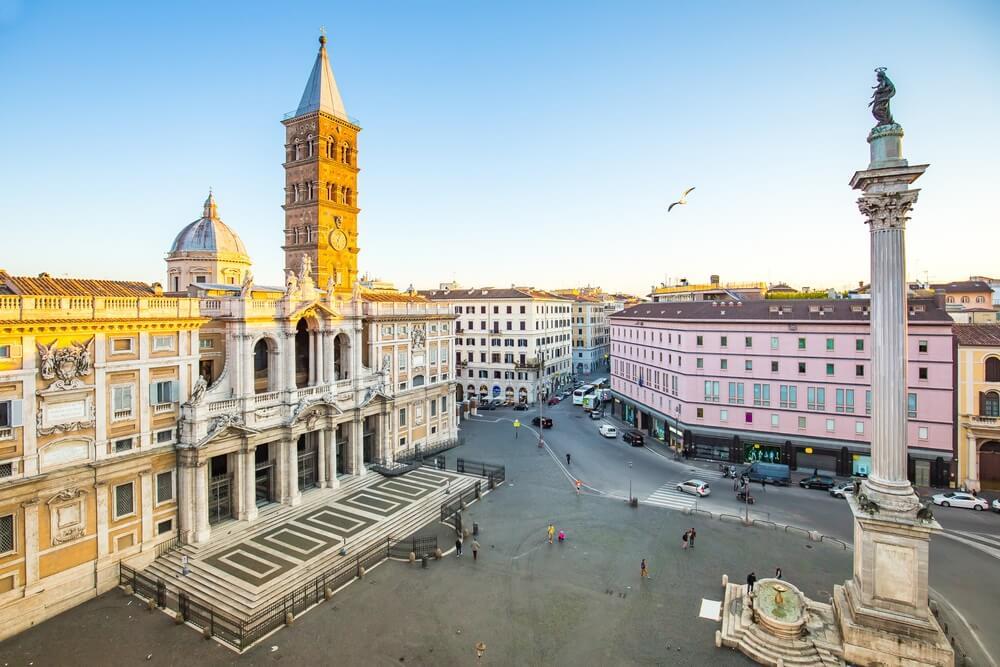 Piazza di Santa Maria in Rome
