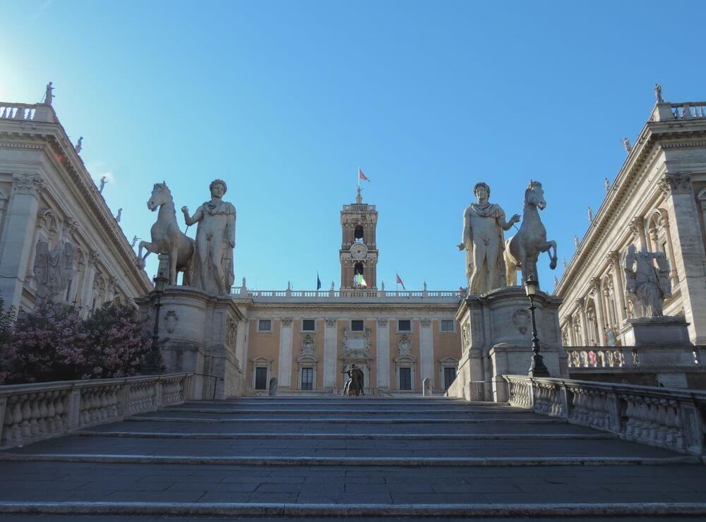 Het Piazza di Campidoglio, Rome