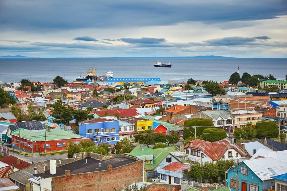Uitzichtpunt bij Punta Arens, de meest Zuidelijk gelegen stad van Chili.