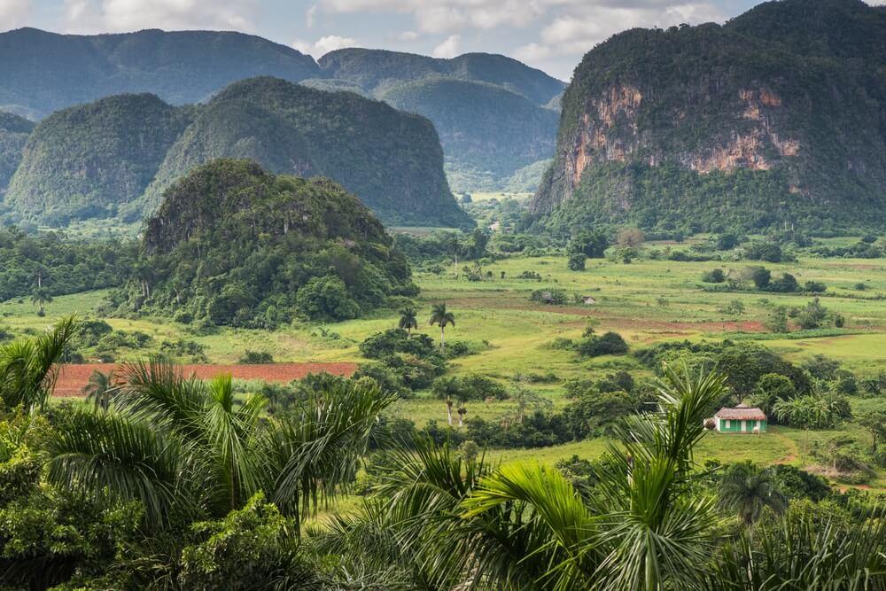 Uitzicht over de Vinales Valley in Cuba