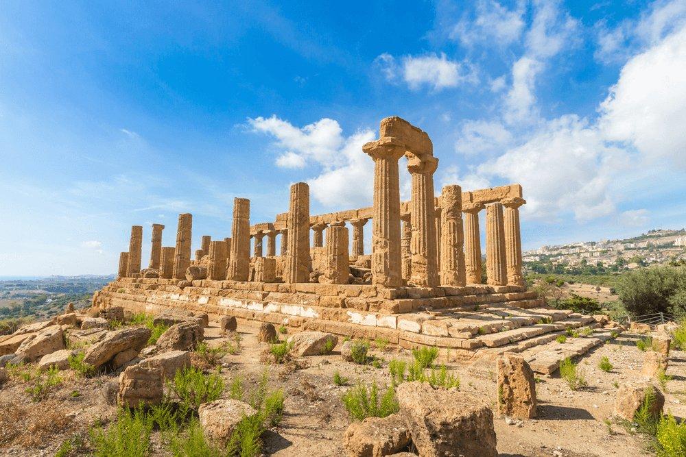 Meest beroemde tempel van de Vallei van de Tempels in Agrigento, Sicilië