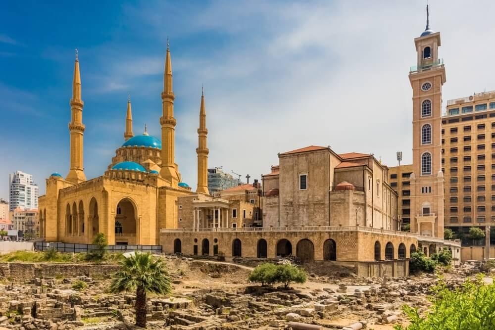 Mohammad Al-Amin-moskee in Beiroet, de hoofdstad van Libanon