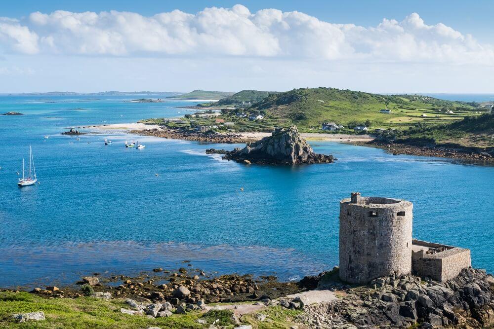 Cromwell Kasteel Tresco en Bryher, Scilly-eilanden, Cornwall, Verenigd Koninkrijk.