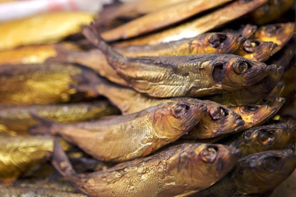 Droge gerookte vis, Zweedse specialiteit.