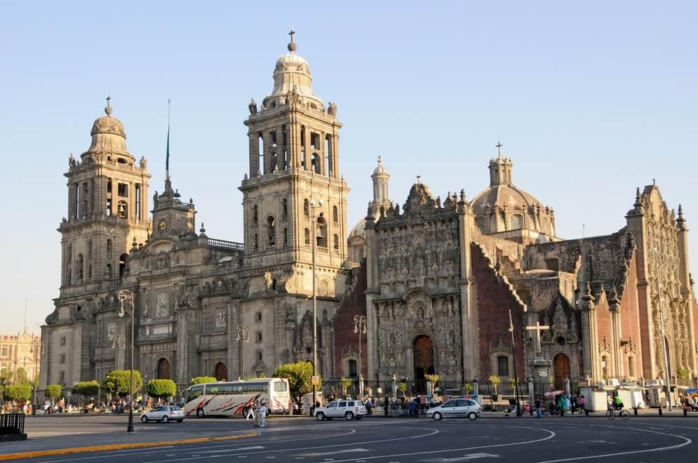 Kathedraal Metropolitana en Metropolitan Tabernakel, Mexico-Stad, Mexico.