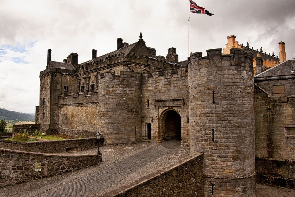 Stirling Castle / Stirling Castle op het platteland ten westen van Edinburgh, Schotland.
