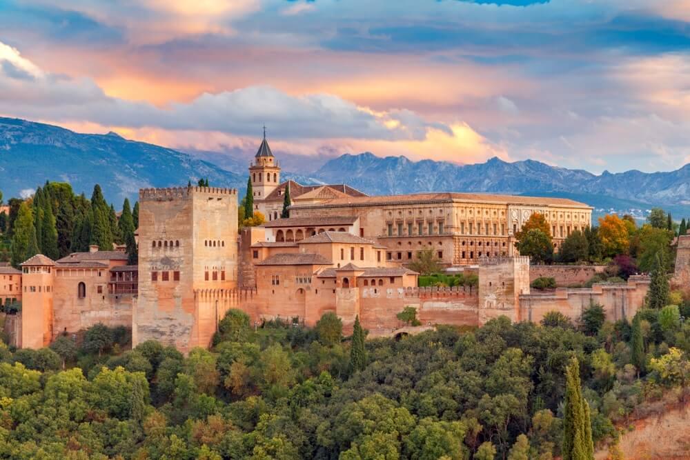 Granada. Het fort en paleiscomplex Alhambra.