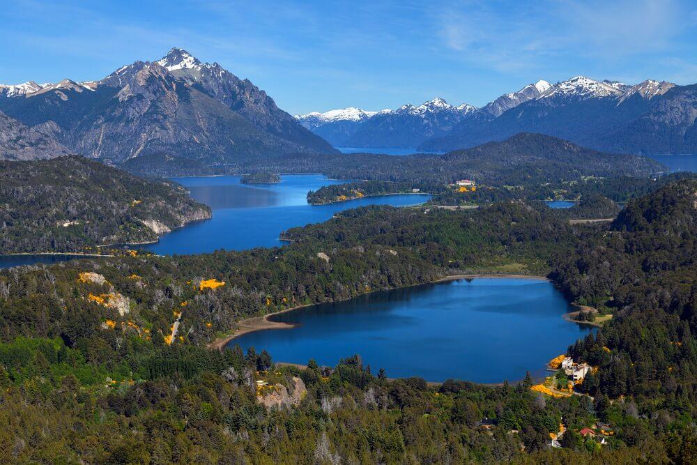 Uitzicht vanaf de berg Campanario, Bariloche, Patagonië, Argentinië
